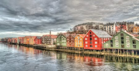 Trondheim-City in Norway
