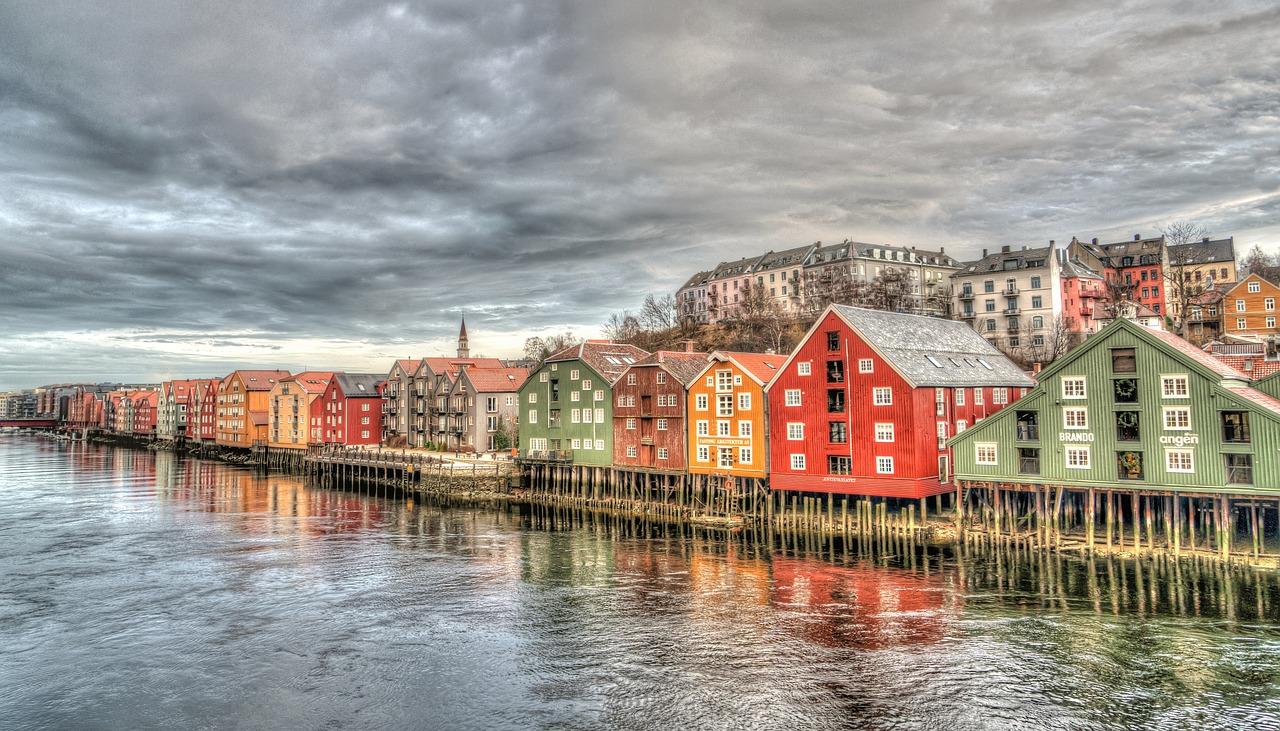 Trondheim-City in Norway